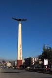 Condor monument at the entrance to San Sebastian