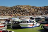 Tourist boats, Puno Harbor, Lake Titicaca