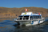 Another tour boat heading for the Floating Islands, Lake Titicaca