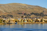 The Floating Islands are about 5 km from Puno