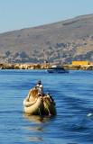 A reed boat on Lake Titcaca