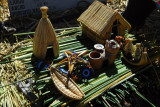 Souvenirs for sale by the Uros people, Floating Islands