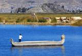 Large reed boat, Lake Titicaca