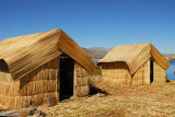 Reed huts, Floating Islands, Lake Titicaca