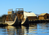 Twin hulled, two level reed boat, Lake Titicaca