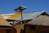 Solar panel, Uros Islands, Lake Titicaca