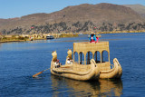 Two level reed boat, Lake Titicaca