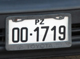 Bolivian license plate from La Paz