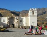 Yanque's pretty plaza and 18th Century church