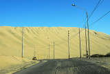Tall dunes totally surround Huacachina