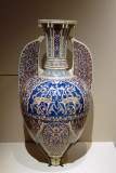 19th C. copy of a medieval Islamic vase decorated with gazelles