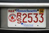 Massachusetts License Plate - Red Sox