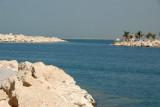 Inside the breakwater at the Jebel Ali Golf Resort