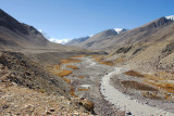 The valley leading to Rongphu and Everest Base Camp