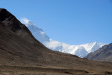 Mount Everest coming back into view as we near Rongphu