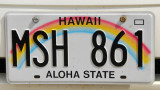 Hawaii license plate, the Aloha State