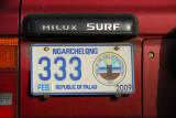 Palau License Plate - Ngarchelong