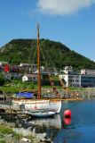 Antique wooden sailboat, the Frigg, Ålesund