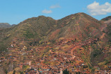 Hills of western Cusco from Sacsayhuamán