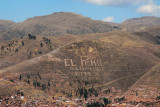 Viva El Peru on a hill south of Cusco