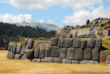 Sacsayhuamán is an ancient Inca fortress overlooking Cusco