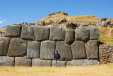 The main walls of Sacsayhuamán are built with massive blocks of stone
