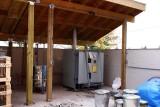 Large Kiln Under Shed