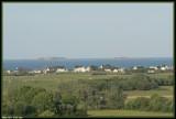 Iles Saint Marcouf vues de la batterie de Crisbecq
