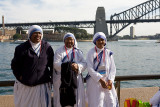 Nuns with Sydney Harbour backdrop
