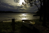 Careel Bay with boat