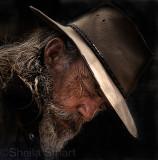 Candid of man in akubra hat