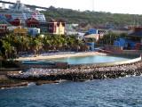Man-made enclosed beach