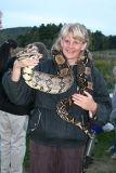 Big snake, big girl