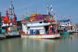 Fishermen's boat at Laem Pak Bia