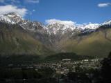Mount Kuro with Kazbegi and Gergeti villages
