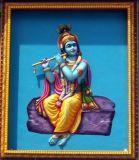 Sri Krishna on Entrance Wall