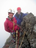 July 08 Martina and Richard on the Inaccessible Pinnacle Skye