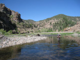 Our first dip in the Gila River