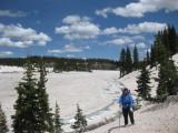 Martina at frozen Blue Lake Colorado