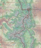 Map showing our hike through Colorado