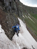 Tricky crossing of the 'Knife Edge'