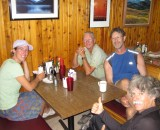 Martina, Richard,Glen,Ted In East Glacier Montana