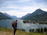 In Canada at the head of Waterton Lakes
