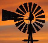 Windmill Sunset (Composition #6)