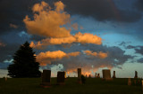 Cloudscape over Grave Stones