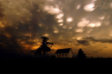 Mammatus Clouds Above the Old Brick Church