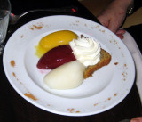 Sorbet with cake