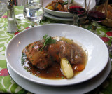 Rabbit cooked with rosemary