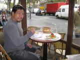 Michael at Le Lutèce on the Blvd St Michel