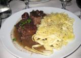 boeuf bourguignon and pasta